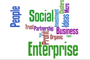 social enterprise word map