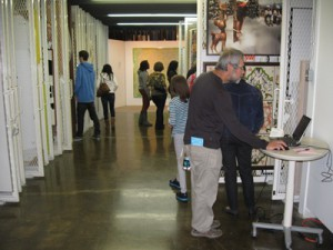 Browsing the Art Bank collection during the 40th Anniversary open house or shopping for something to take home?