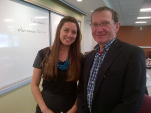 Yours truly, with Katie Elliot. Project Coordinator at the Nordik Institute in Sault Ste. Marie ON