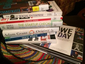 Just a few of the books on  business you are likely to find at your Public Library.